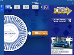 Interfaccia App Mediaset Connect